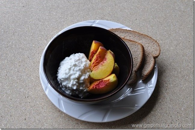 Grapefruit & Granola Peaches and Cottage Cheese