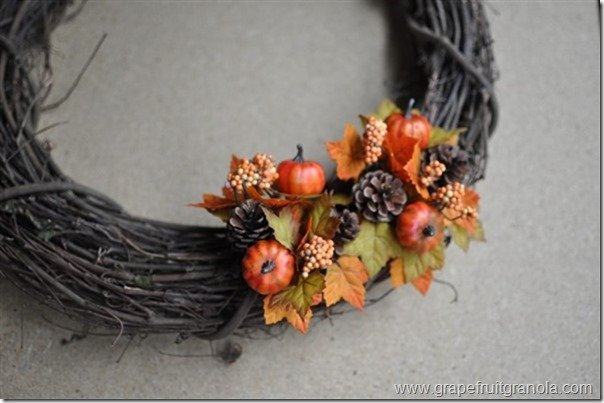 Grapefruit & Granola Fall Wreath Design 2