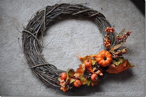 Grapefruit & Granola Fall Wreath Design 3