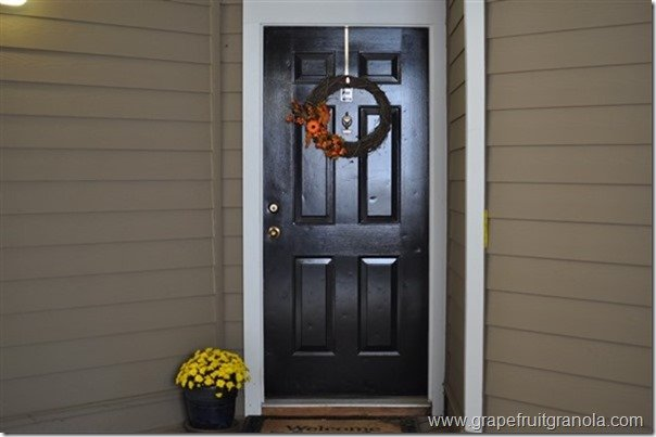 Grapefruit & Granola Fall Wreath Front Door