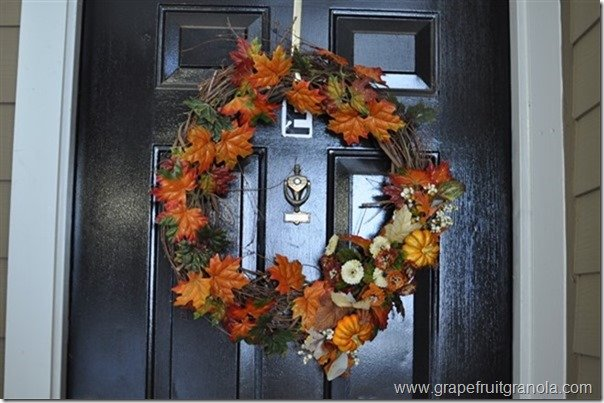 Grapefruit & Granola Fall Wreath Last Year