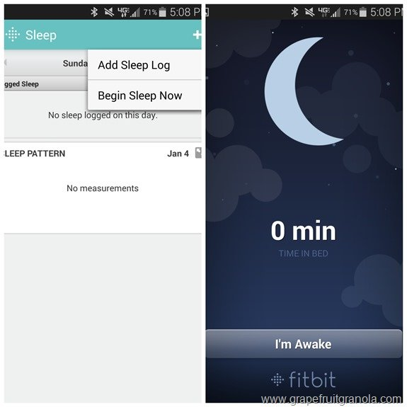 Fitbit Flex Sleep App