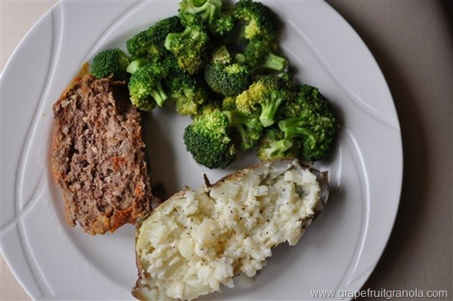 Meatloaf Potato Broccoli