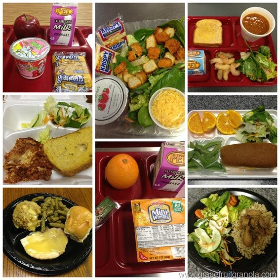 School Meals Collage