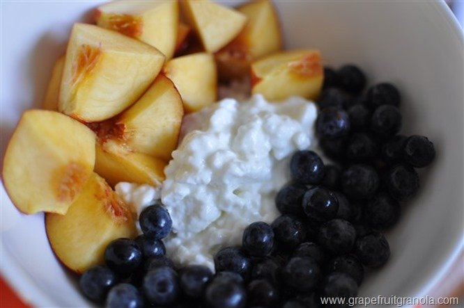 cottage cheese blueberries nectarine 1