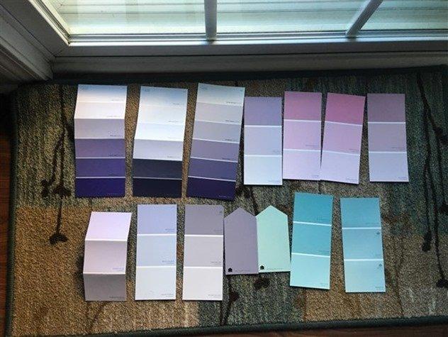 Paint Swatches Ikea Tarva nightstand