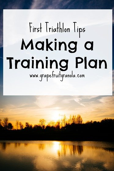 Tips for your first triathlon how to make a training plan
