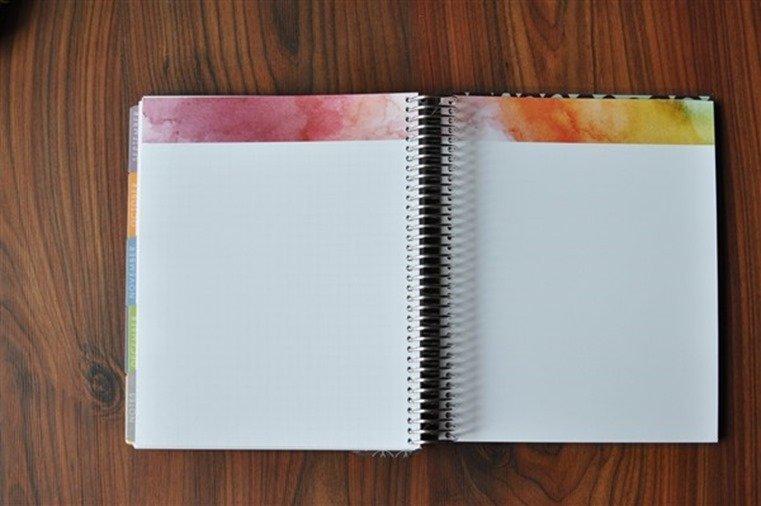 Erin Condren LifePlanner blank paper 1