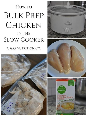 How to Bulk Prep Chicken in the Slow Cooker